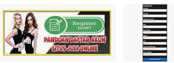 panduan register judi online